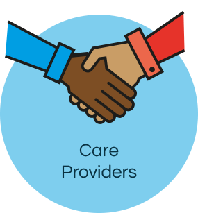Care providers icon front