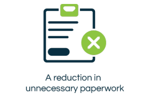 Paperwork reduction icon